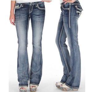 Rock Revival Lily Boot Embellished Denim Jeans